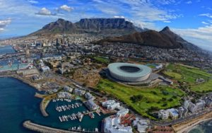 Cape Town Car Rental - Aerial view of Table Mountain