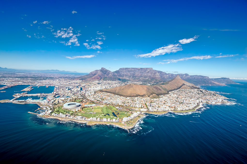 Aerial View of Cape Town - Around About Cars