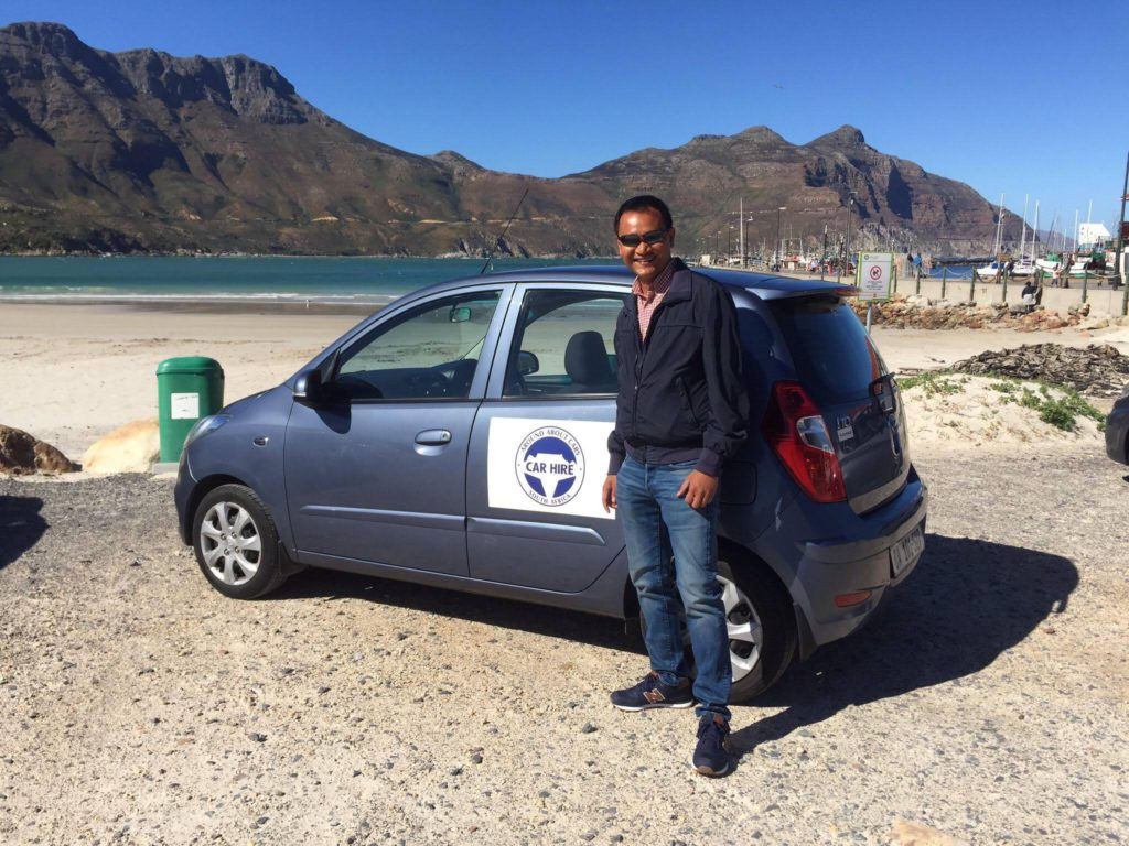 Keith Jenkins, Co-Founder of Ambassador and travel blogger at Velvet Escape, in Hout Bay - Around About Cars