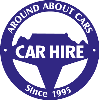 Around About Cars car hire since 1995.