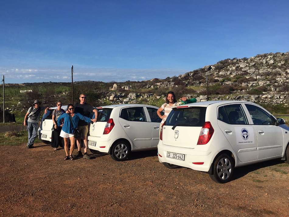 Trave Influencers from Venturists, The Crowded Planet and Iambassador get ready to hike up to Kleinplaas Dam - Around About Cars