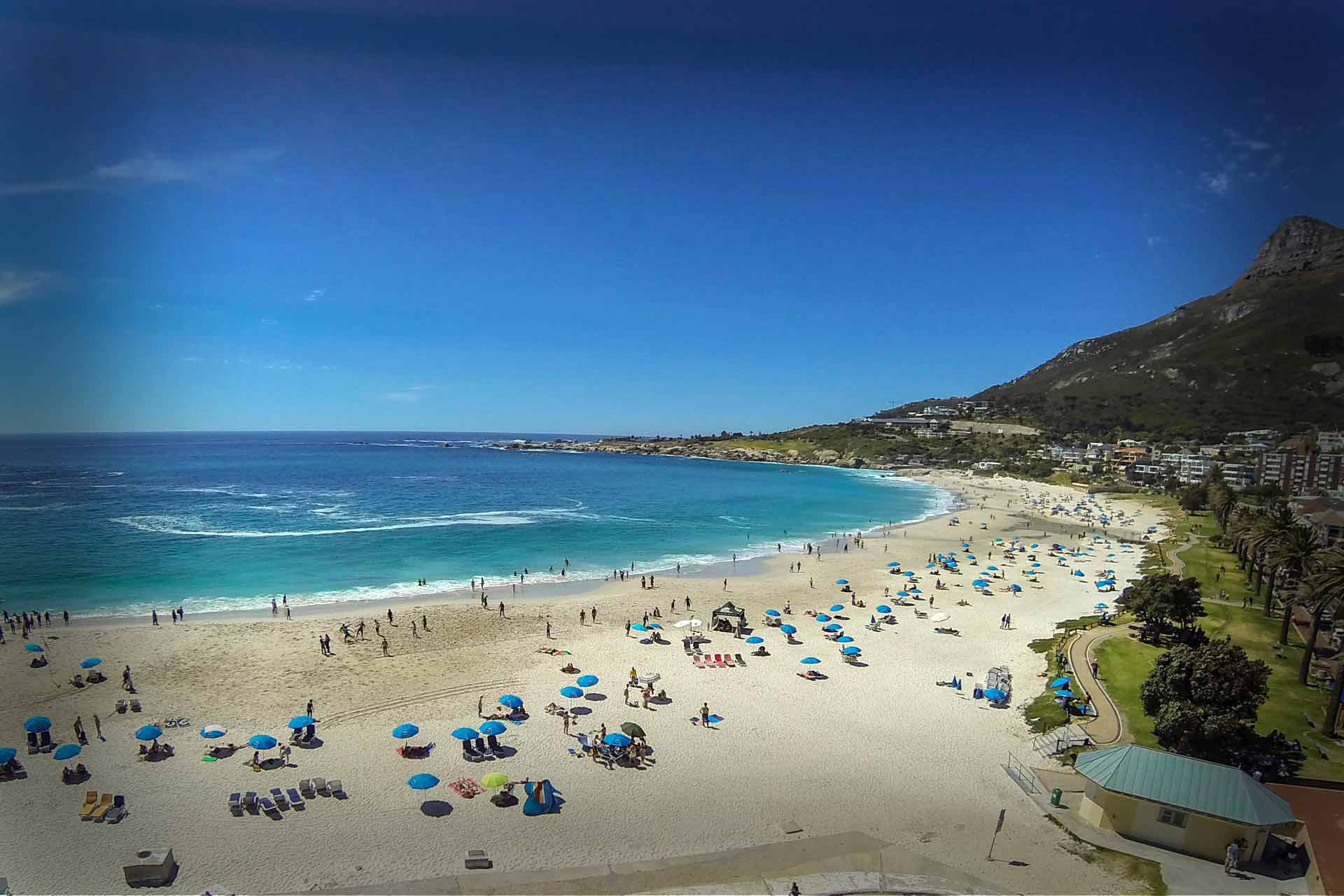Camps Bay beach.