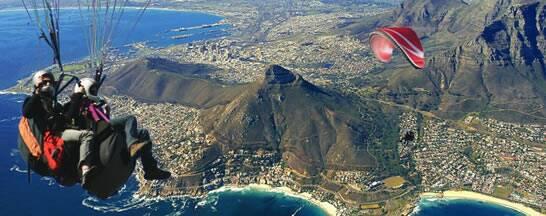 Cape Town tandem paragliding.
