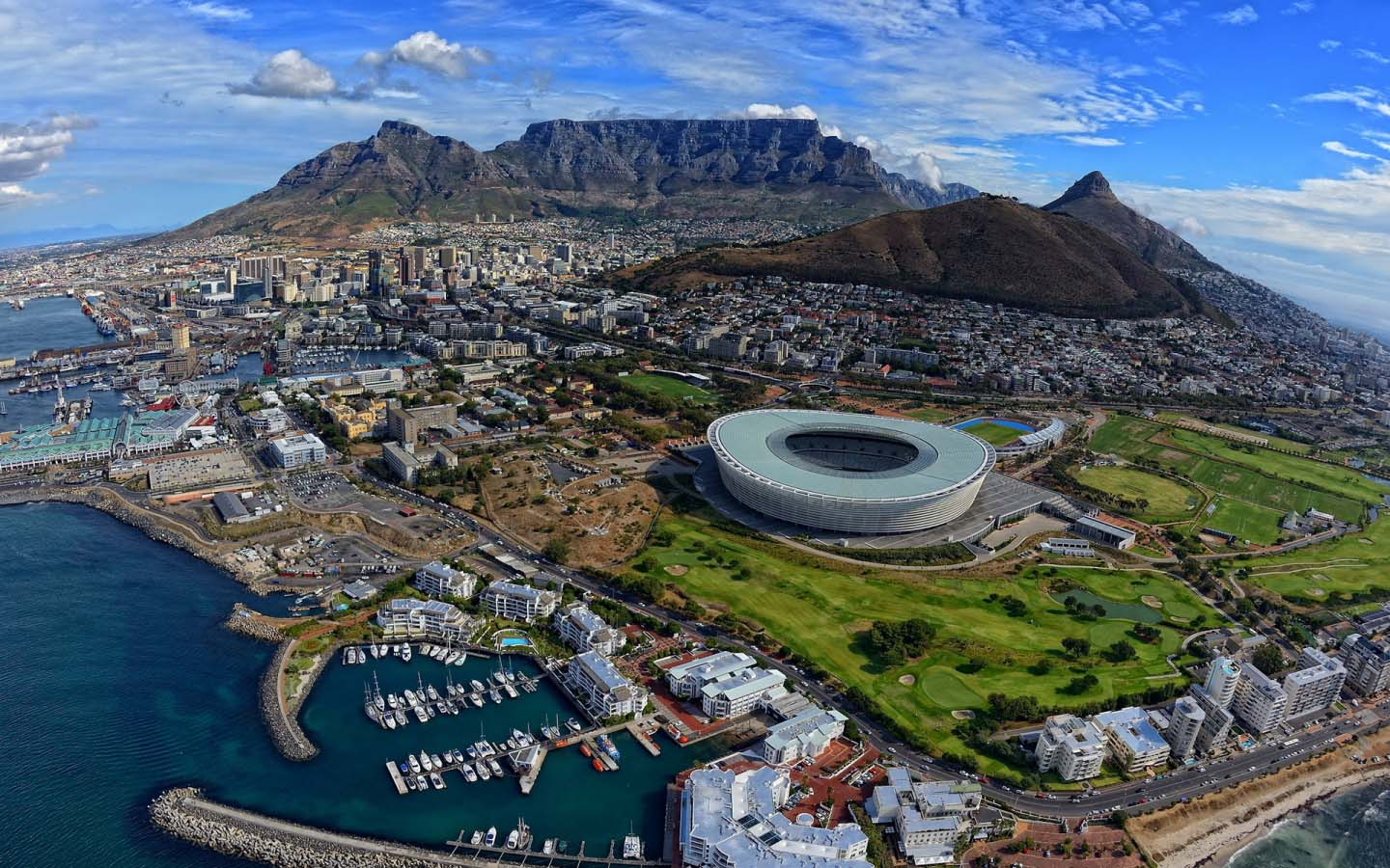 Cape Town Aerial View - Around About Cars