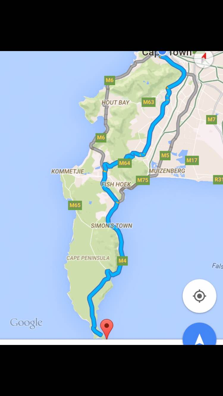 Directions to Cape Point Table Mountain National Park 2.