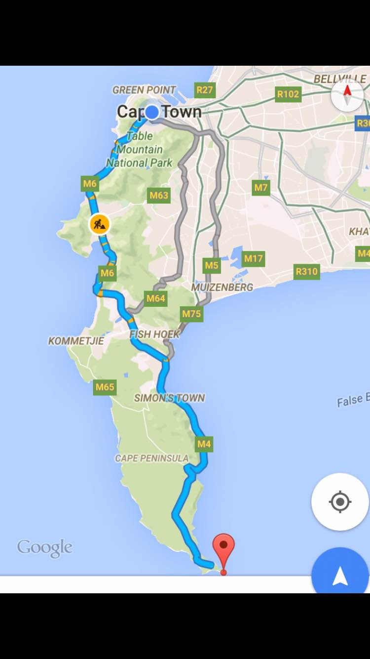 Directions to Cape Point Table Mountain National Park 1.