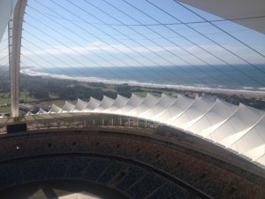 View from the top of the Moses Mabhida Stadium.