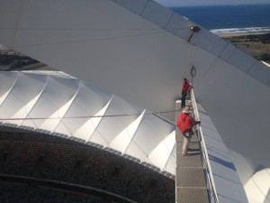 At the top of the Moses Mabhida Stadium.