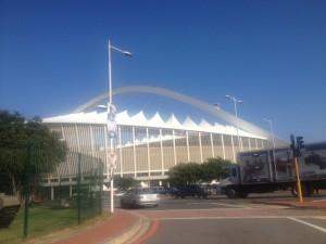The Moses Mabhida Stadium.