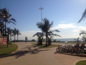 Rent a bicycle on the Durban Seaside Promenade.