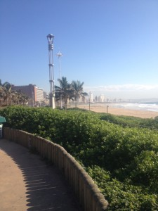 View from the Durban seaside Promenade.