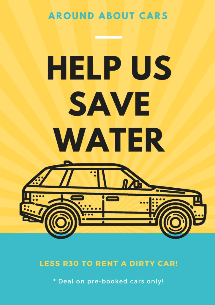 Help us Save Water - Around About Cars