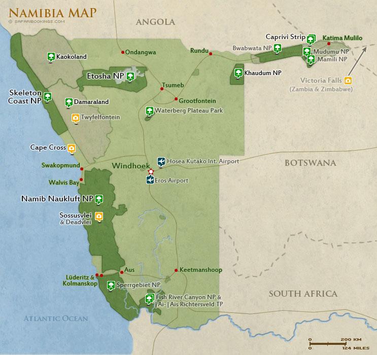 Routes of Namibia.